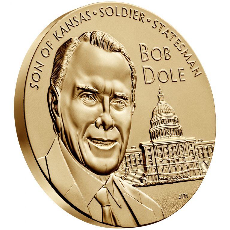 Bob Dole Bronze Medal Three Inch Obverse Angle