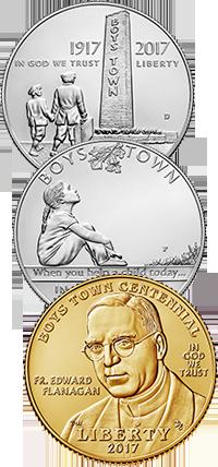 2017 Boys Town Centennial Commemorative Coin Program Obverses