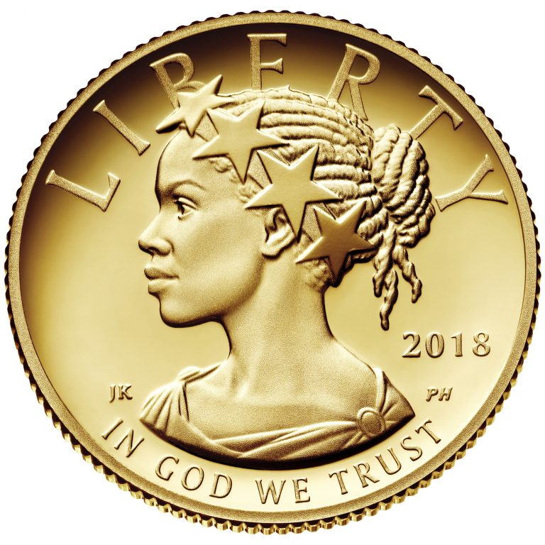 2018 American Liberty One-Tenth Ounce Gold Proof Coin Obverse