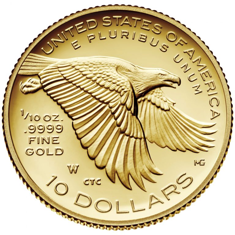 2018 American Liberty One-Tenth Ounce Gold Proof Coin Reverse