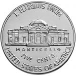 2018 Jefferson Nickel Uncirculated Reverse