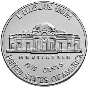2018 Jefferson Nickel Uncirculated Reverse