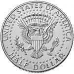 2018 Kennedy Half Dollar Uncirculated Reverse