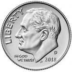 2018 Roosevelt Dime Uncirculated Obverse Denver