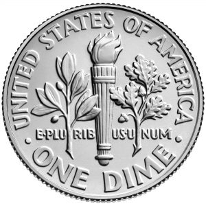 2018 Roosevelt Dime Uncirculated Reverse