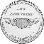 2018 World War I Centennial Commemorative Silver Medal Air Service Reverse