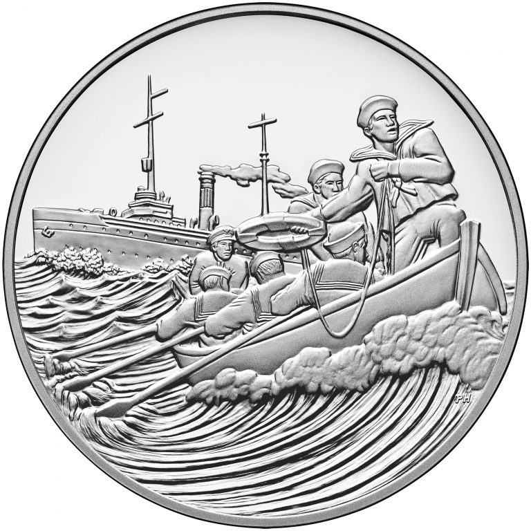 2018 World War I Centennial Commemorative Silver Medal Coast Guard Obverse