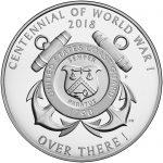 2018 World War I Centennial Commemorative Silver Medal Coast Guard Reverse