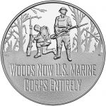 2018 World War I Centennial Commemorative Silver Medal Marines Obverse