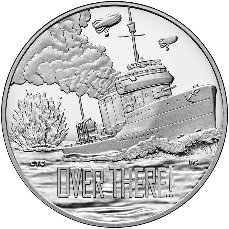 2018 World War I Centennial Navy Silver Medal obverse sculpt
