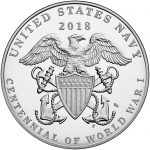 2018 World War I Centennial Commemorative Silver Medal Navy Reverse