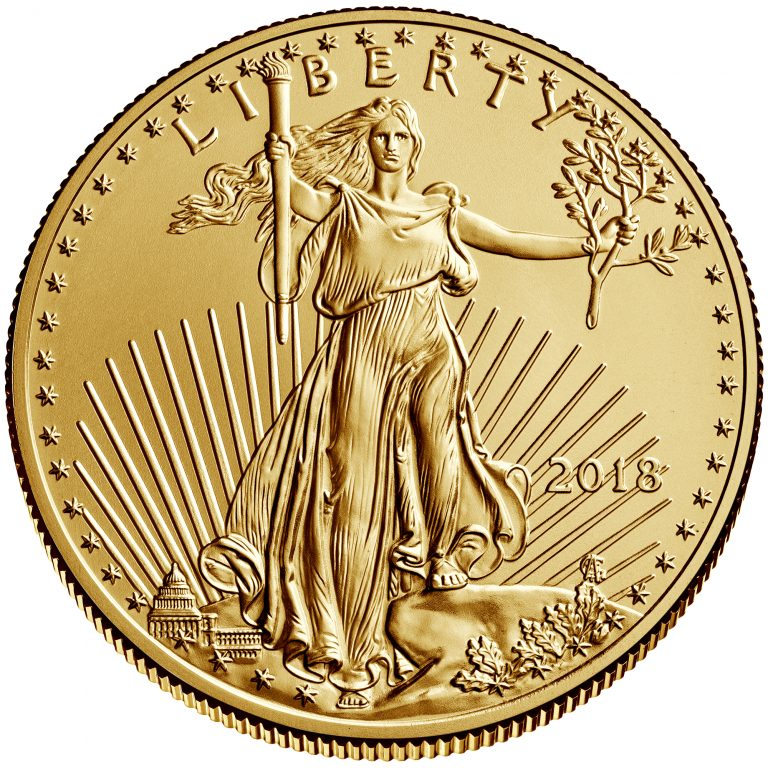 2018 American Eagle Gold Half Ounce Bullion Coin Obverse