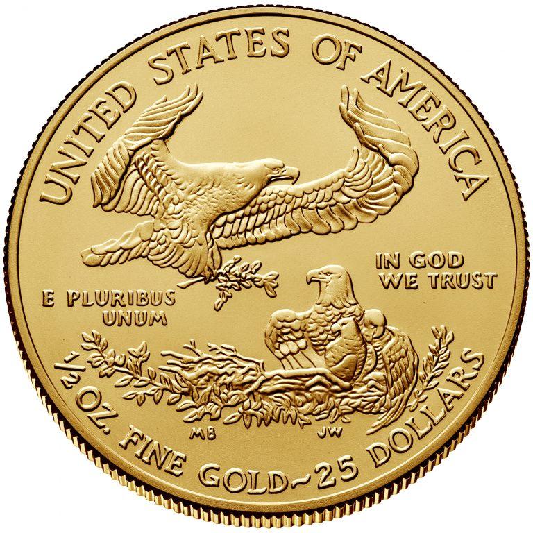 2018 American Eagle Gold Half Ounce Bullion Coin Reverse