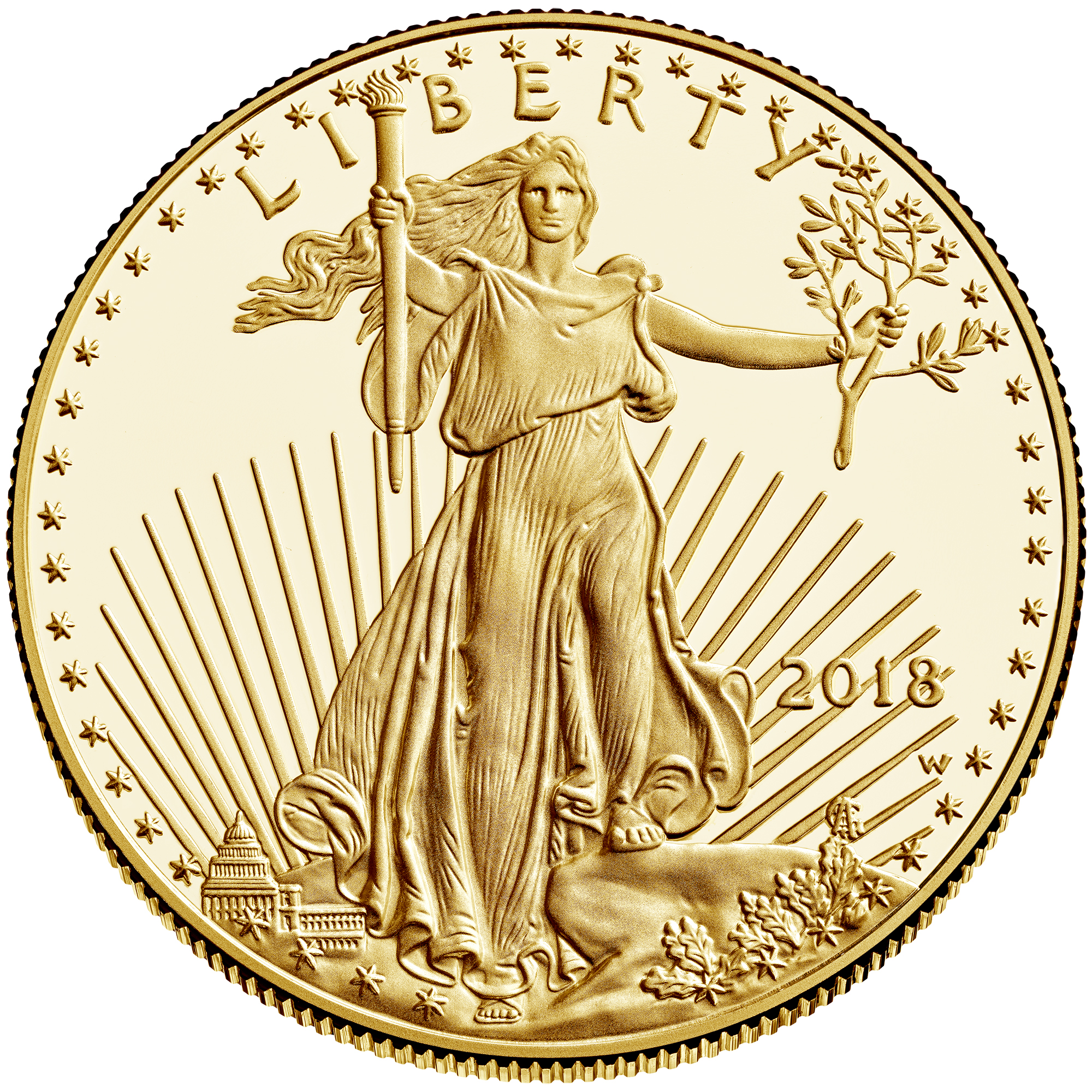 2018 American Eagle Gold One Ounce Proof Coin Obverse