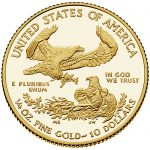 2018 American Eagle Gold Quarter Ounce Proof Coin Reverse