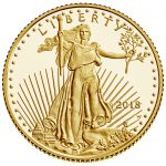 2018 American Eagle Gold Tenth Ounce Proof Coin Obverse