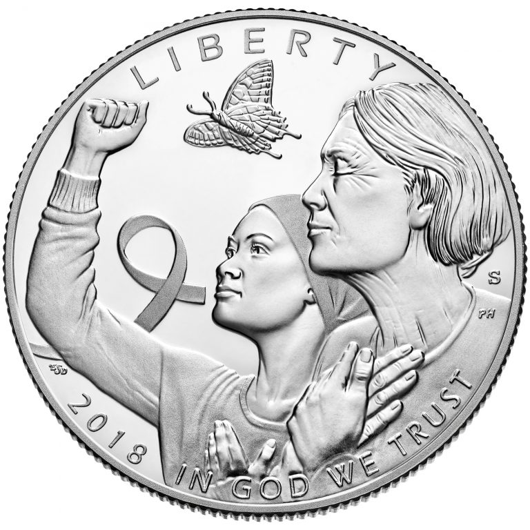 2018 Breast Cancer Awareness Commemorative Clad Proof Coin Obverse