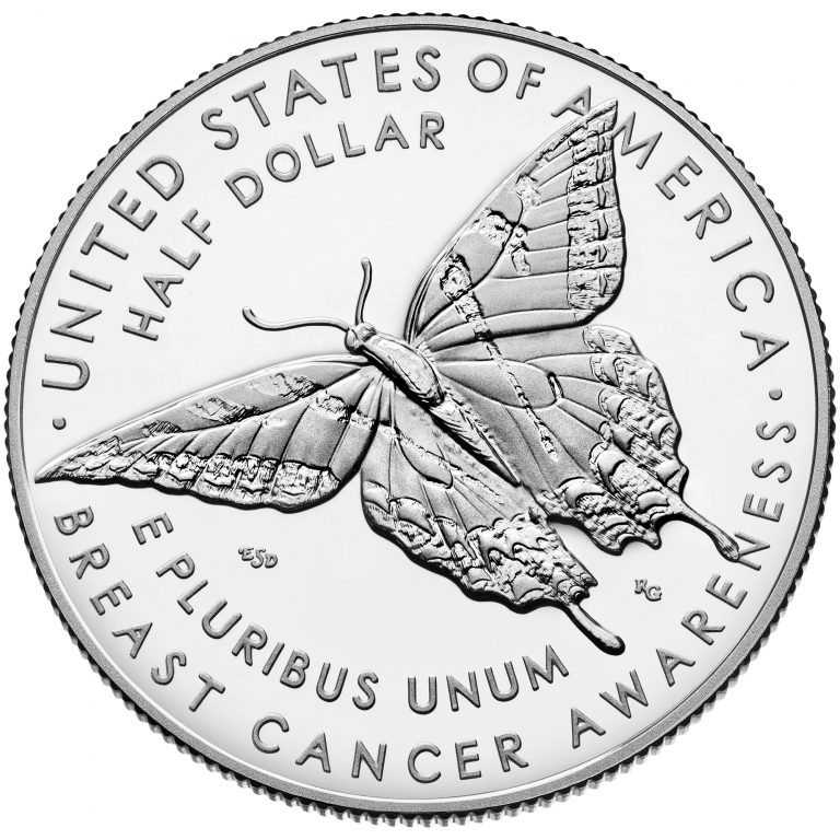 2018 Breast Cancer Awareness Commemorative Clad Proof Coin Reverse
