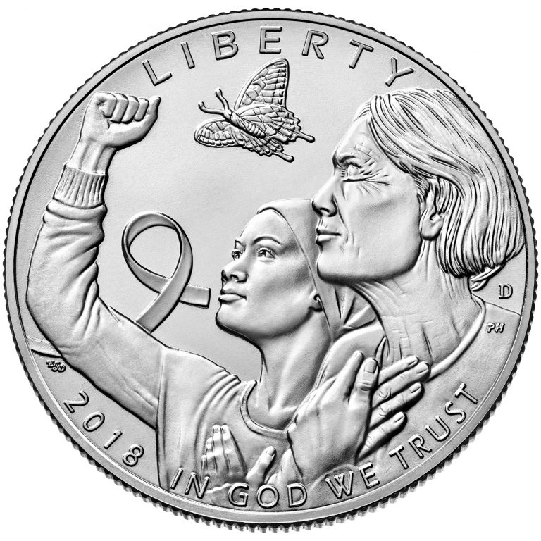 2018 Breast Cancer Awareness Commemorative Clad Uncirculated Coin Obverse