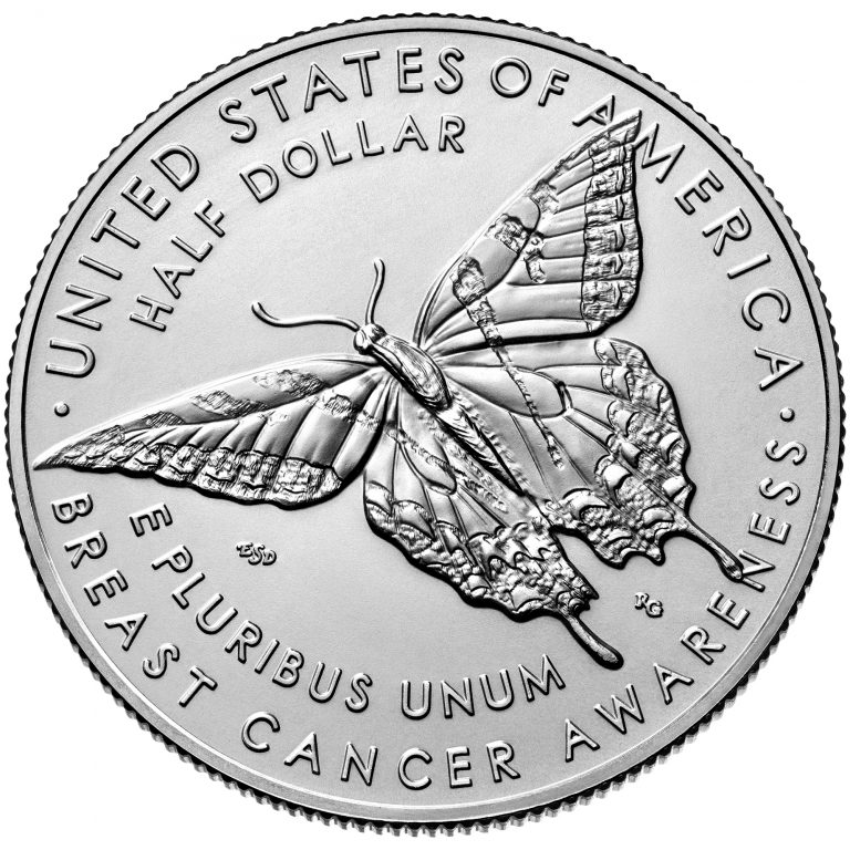 2018 Breast Cancer Awareness Commemorative Clad Uncirculated Coin Reverse