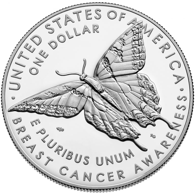2018 Breast Cancer Awareness Commemorative Silver Proof Coin Reverse