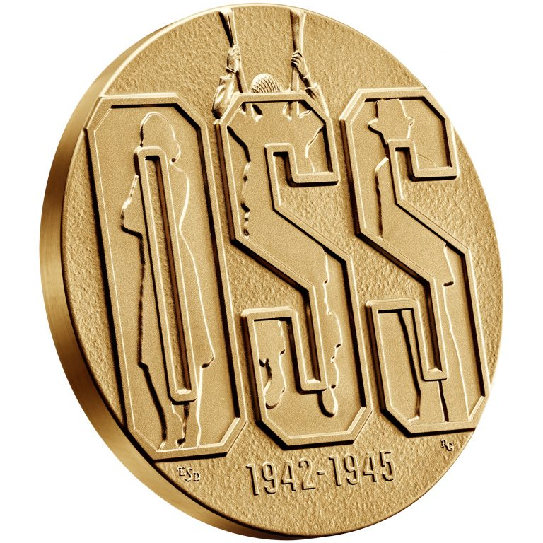 Office of Strategic Services OSS Bronze Medal Obverse Angle