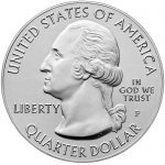2018 America the Beautiful Quarters Five Ounce Silver Uncirculated Coin Pictured Rocks Michigan Obverse