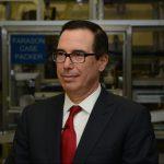 Secretary Mnuchin at the U.S. Mint in Philadelphia on February 22, 2018.