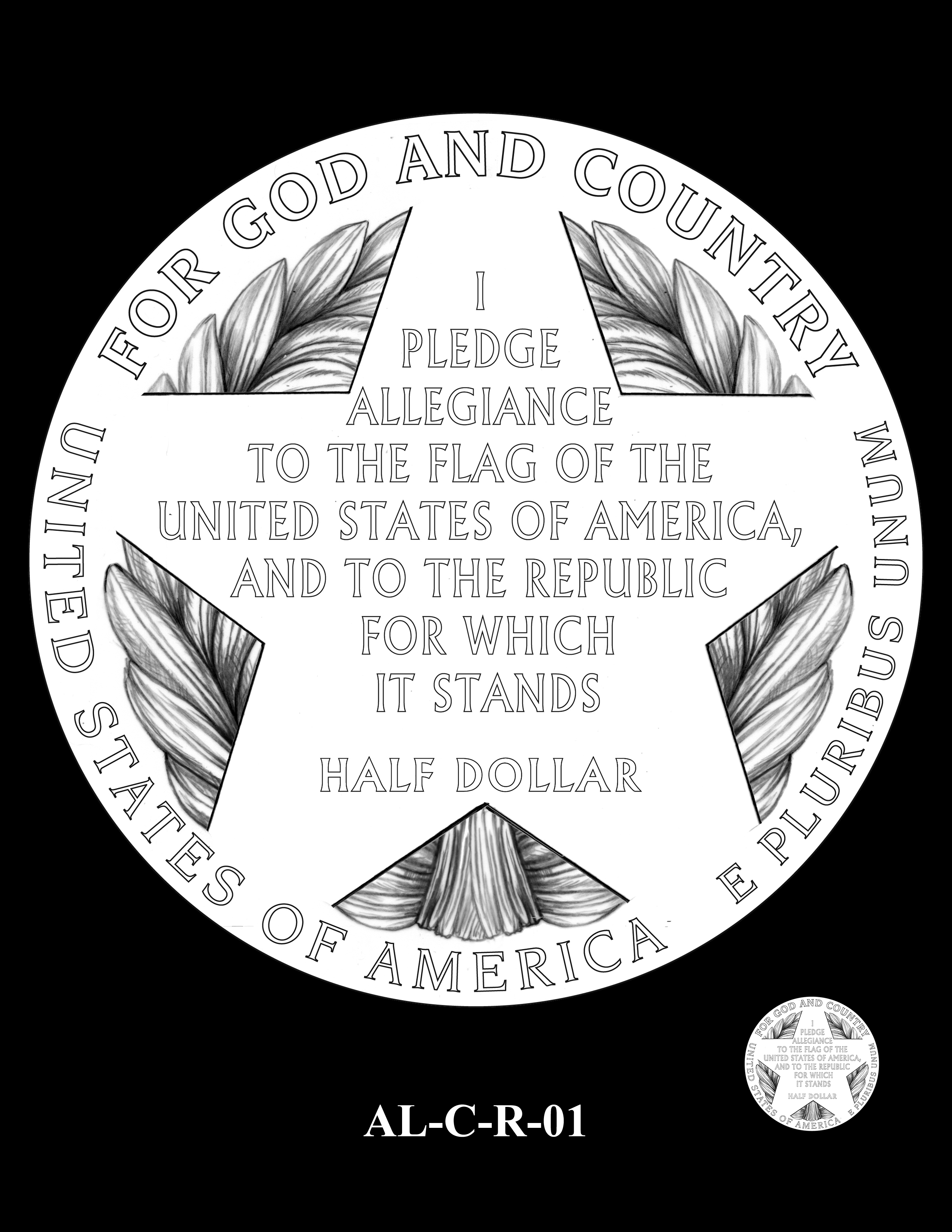 AL-C-R-01 -- 2019 American Legion 100th Anniversary Commemorative Coin Program - Clad Reverse