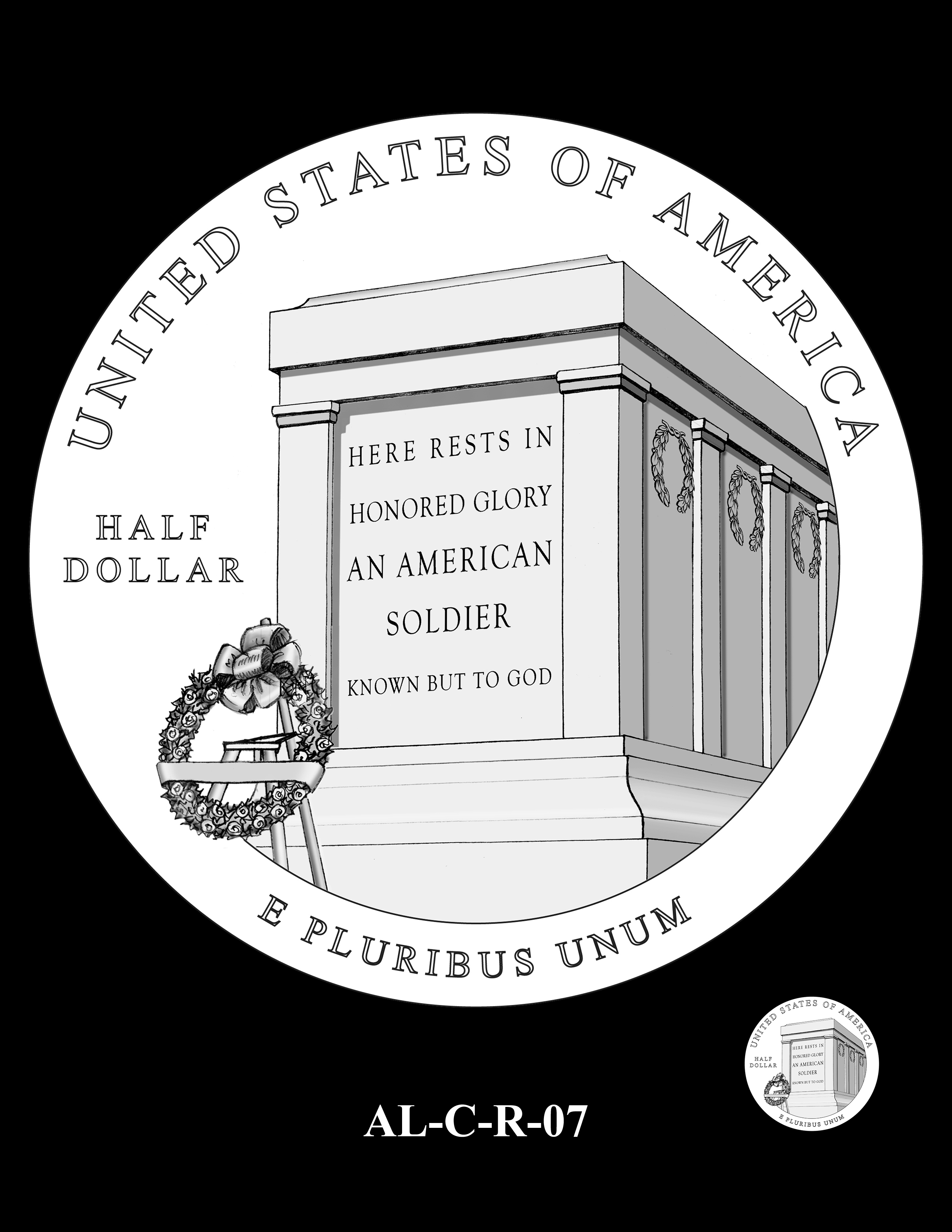 AL-C-R-07 -- 2019 American Legion 100th Anniversary Commemorative Coin Program - Clad Reverse