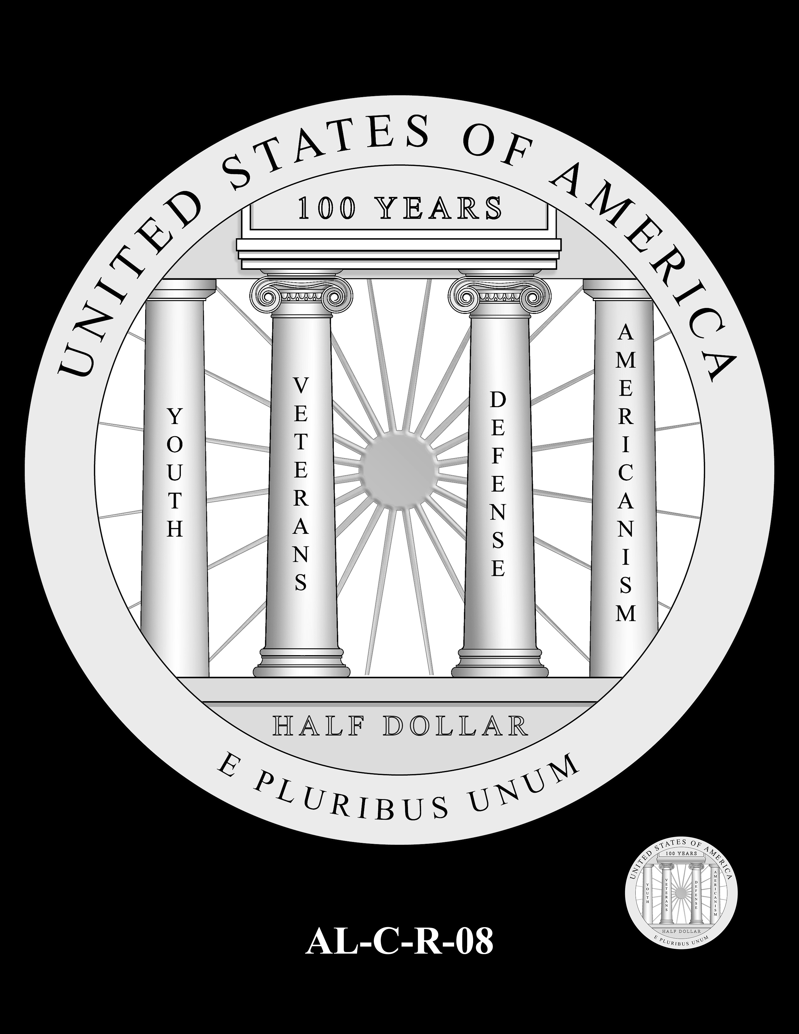 AL-C-R-08 -- 2019 American Legion 100th Anniversary Commemorative Coin Program - Clad Reverse