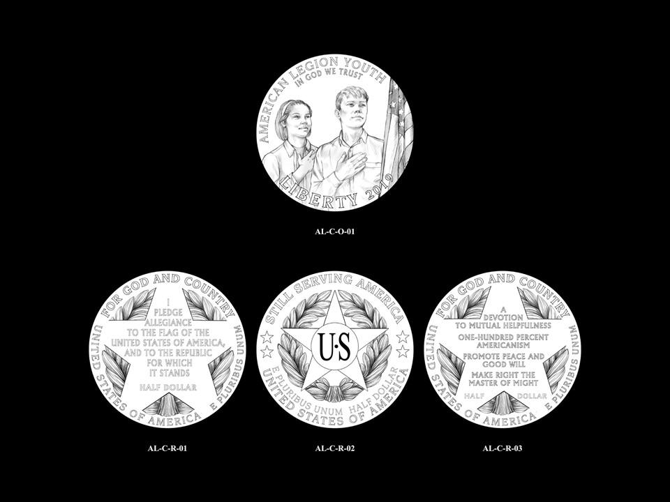 AL-Clad Pair 01 -- 2019 American Legion 100th Anniversary Commemorative Coin Program - Clad Pairings