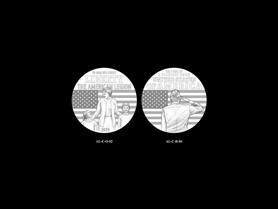 AL-Clad Pair 02 -- 2019 American Legion 100th Anniversary Commemorative Coin Program - Clad Pairings