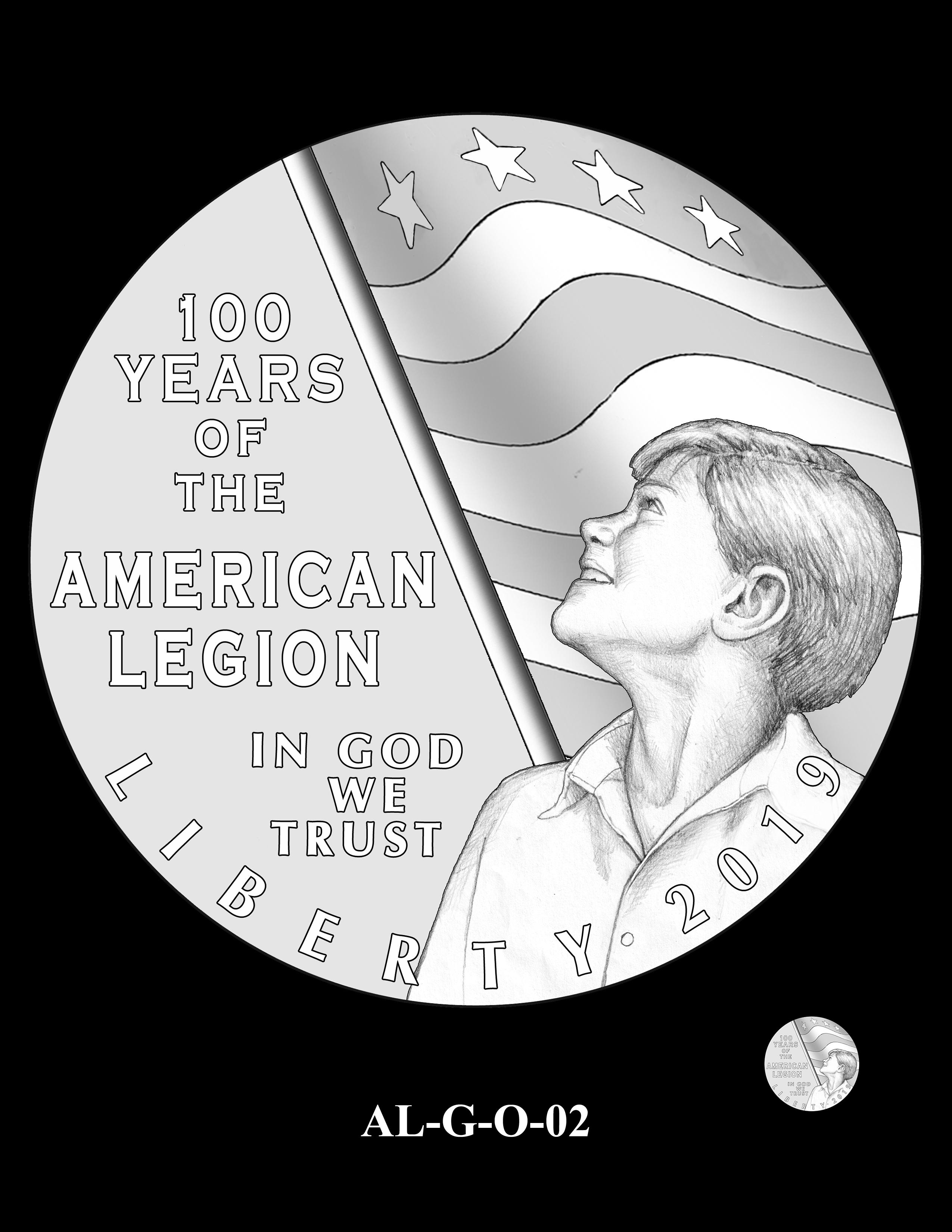 AL-G-O-02 -- 2019 American Legion 100th Anniversary Commemorative Coin Program - Gold Obverse
