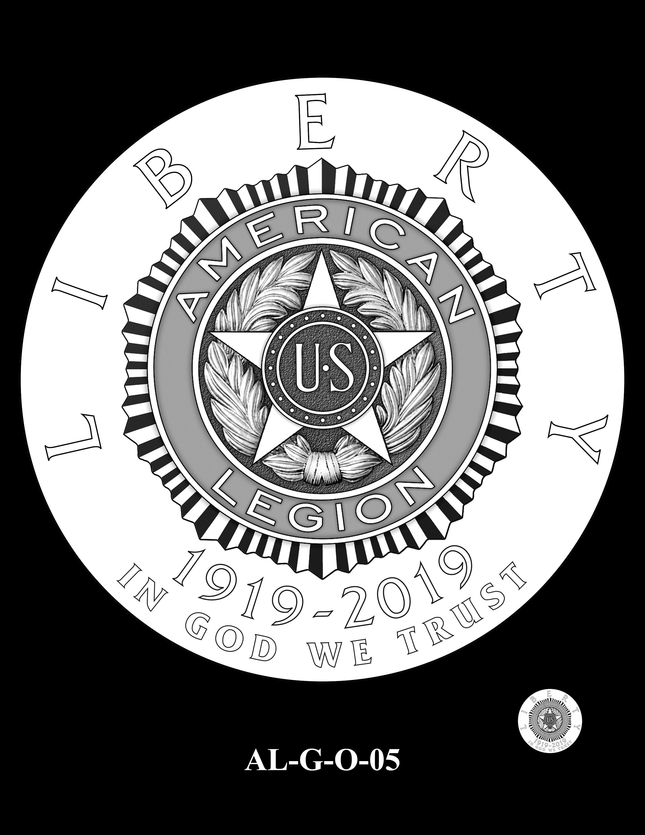 AL-G-O-05 -- 2019 American Legion 100th Anniversary Commemorative Coin Program - Gold Obverse