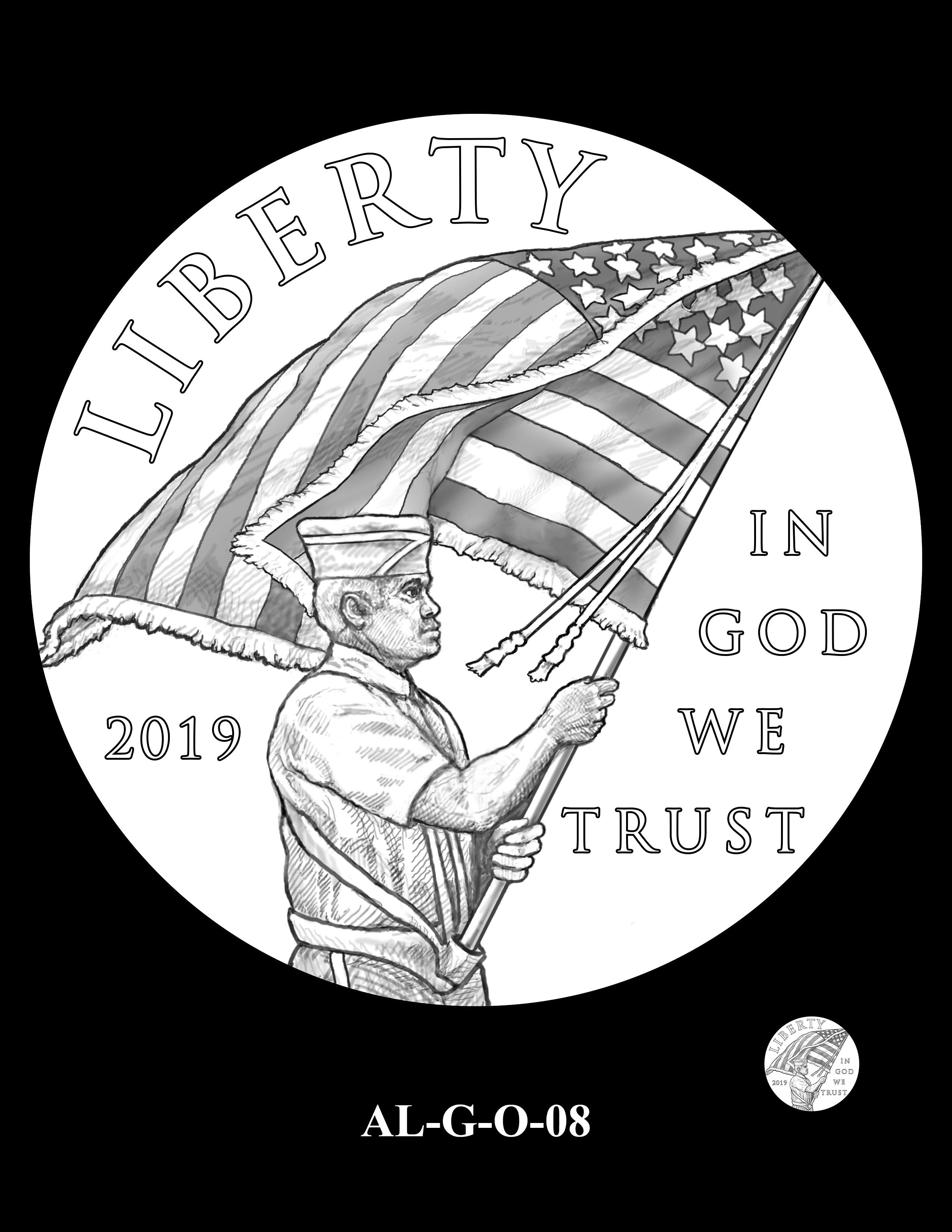 AL-G-O-08 -- 2019 American Legion 100th Anniversary Commemorative Coin Program - Gold Obverse