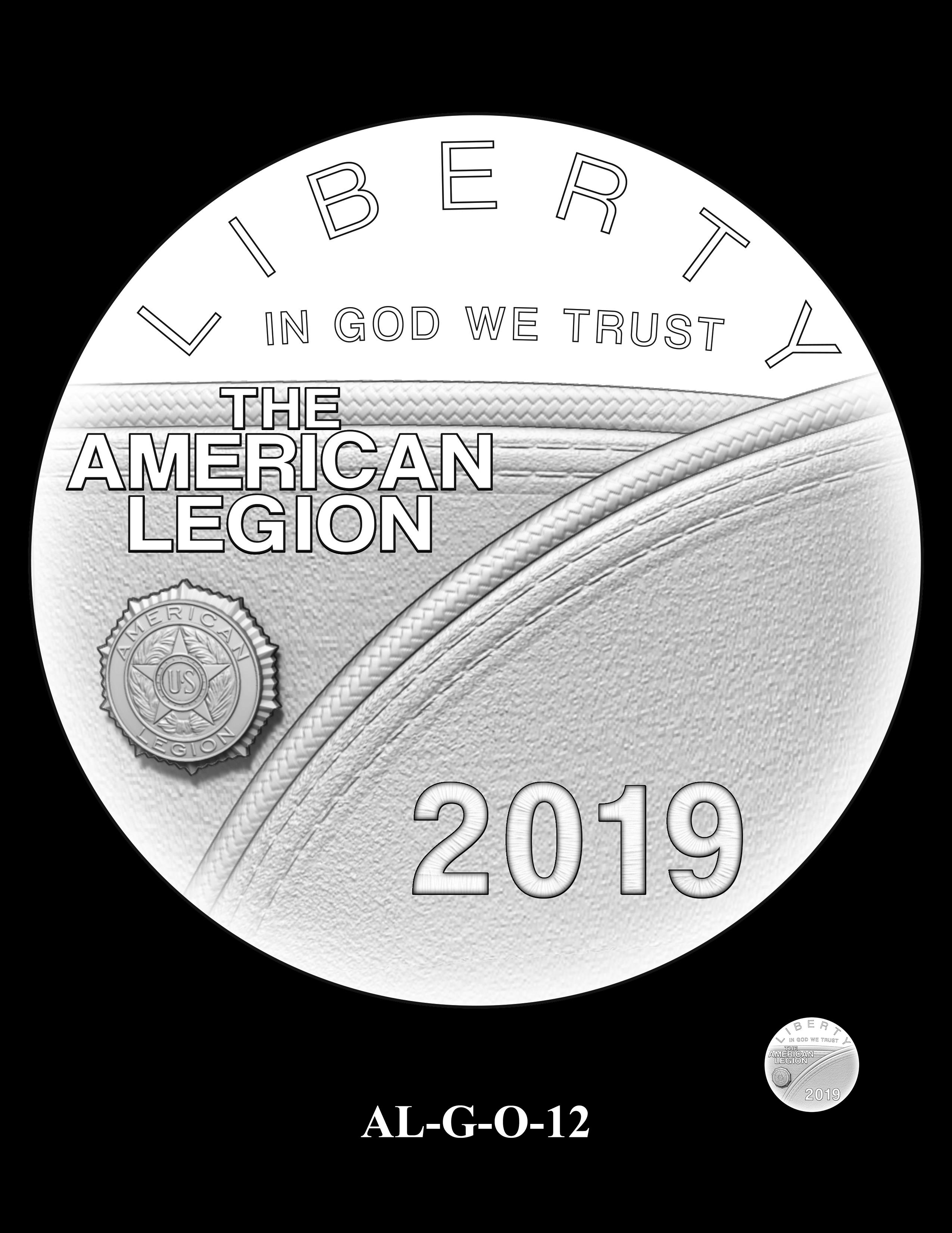 AL-G-O-12 -- 2019 American Legion 100th Anniversary Commemorative Coin Program - Gold Obverse