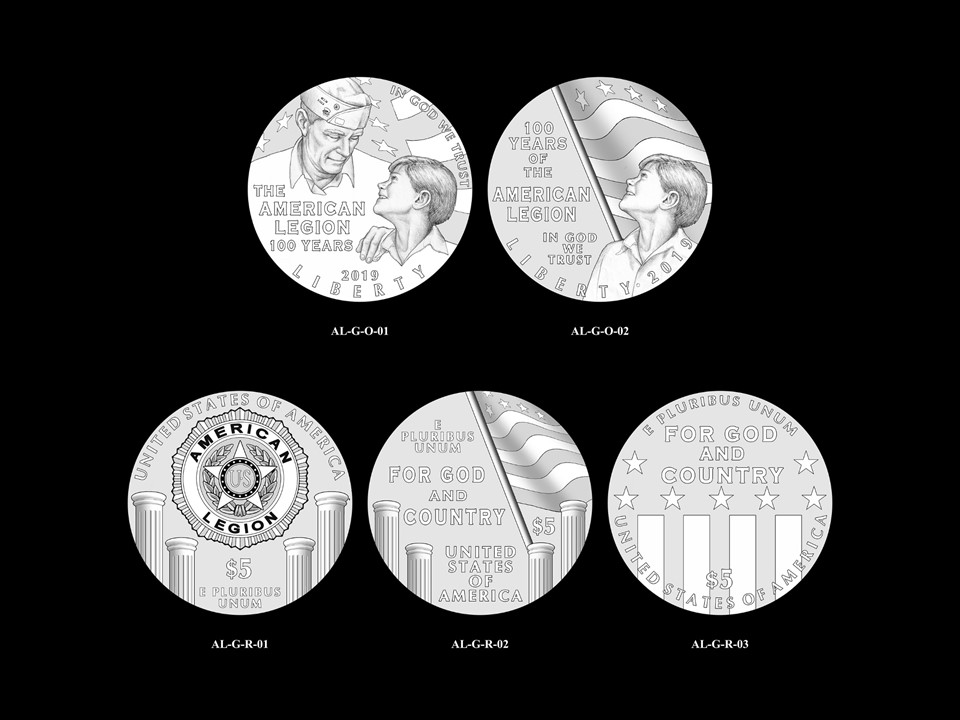 AL-Gold Pair 01 -- 2019 American Legion 100th Anniversary Commemorative Coin Program - Gold Pairings
