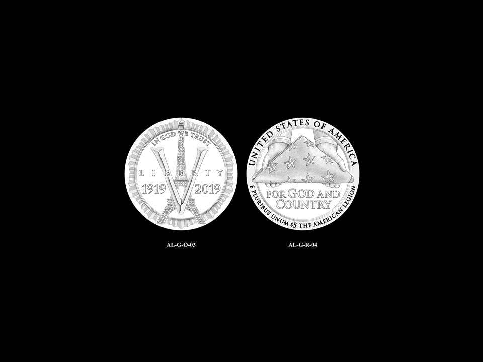 AL-Gold Pair 02 -- 2019 American Legion 100th Anniversary Commemorative Coin Program - Gold Pairings
