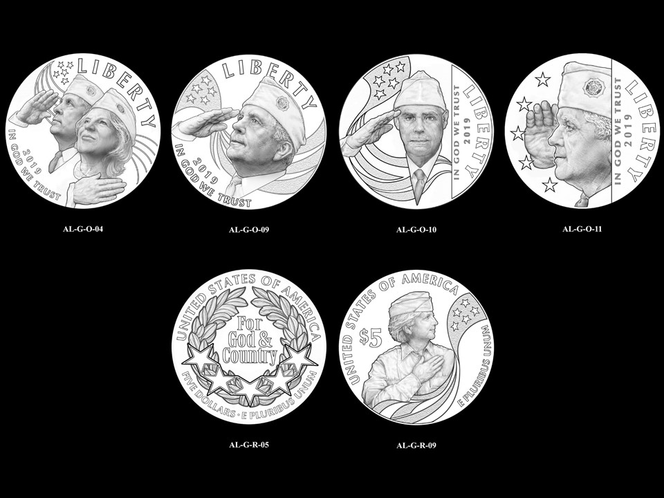 AL-Gold Pair 03 -- 2019 American Legion 100th Anniversary Commemorative Coin Program - Gold Pairings
