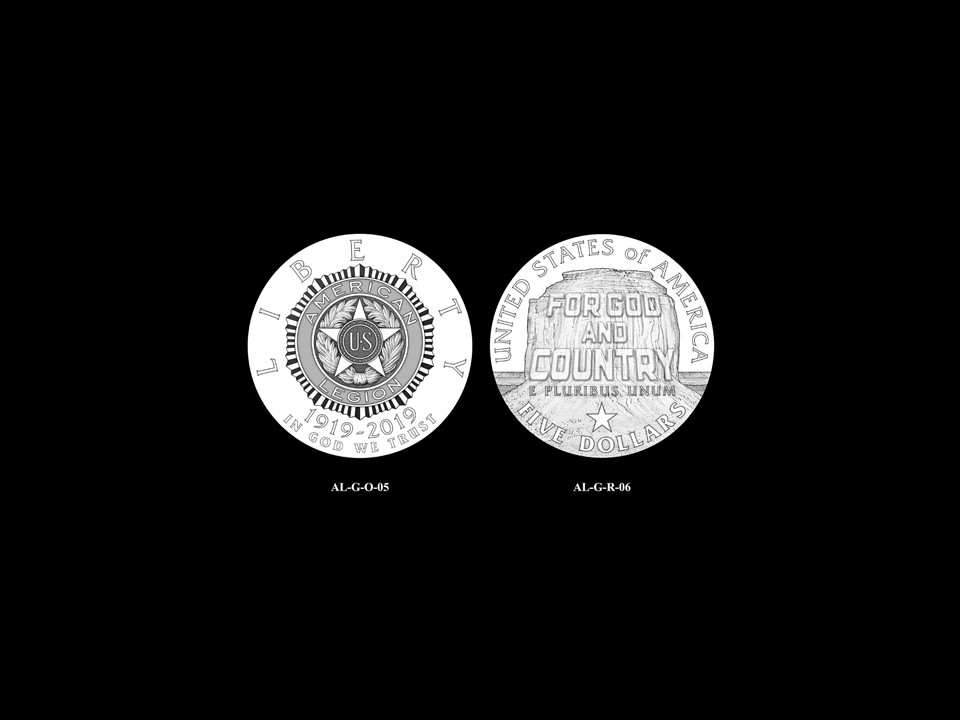 AL-Gold Pair 04 -- 2019 American Legion 100th Anniversary Commemorative Coin Program - Gold Pairings