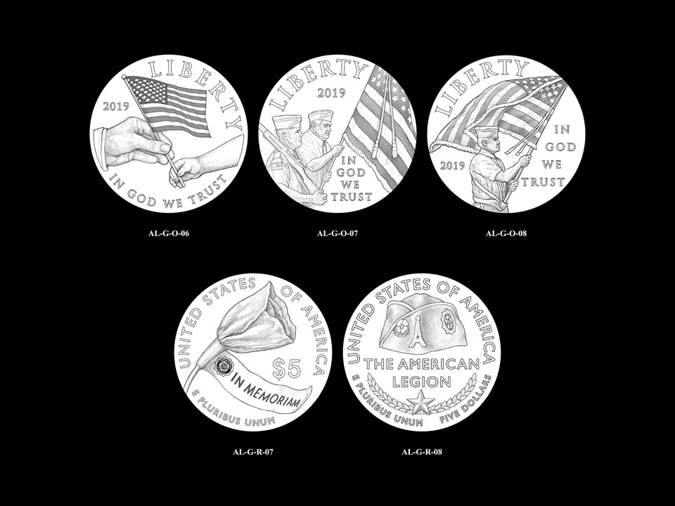 AL-Gold Pair 05 -- 2019 American Legion 100th Anniversary Commemorative Coin Program - Gold Pairings