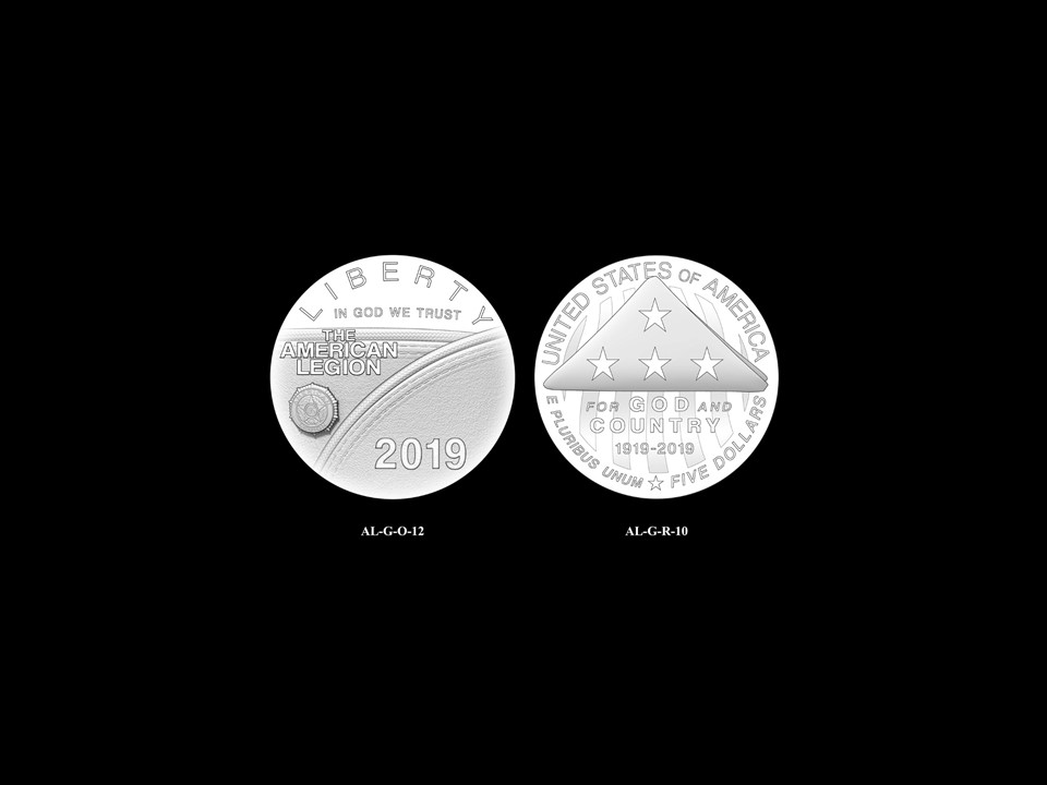 AL-Gold Pair 06 -- 2019 American Legion 100th Anniversary Commemorative Coin Program - Gold Pairings