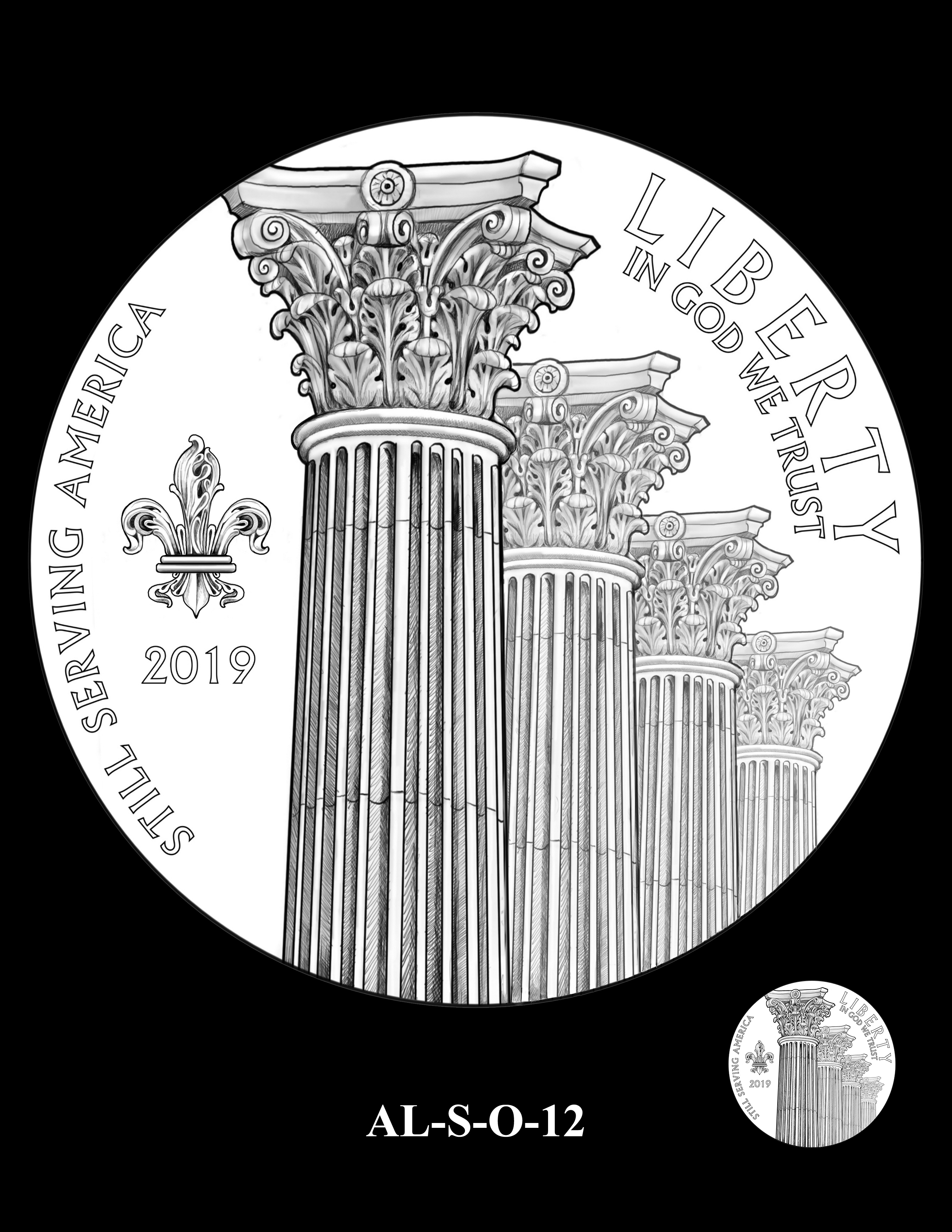 AL-S-O-12 -- 2019 American Legion 100th Anniversary Commemorative Coin Program - Silver Obverse