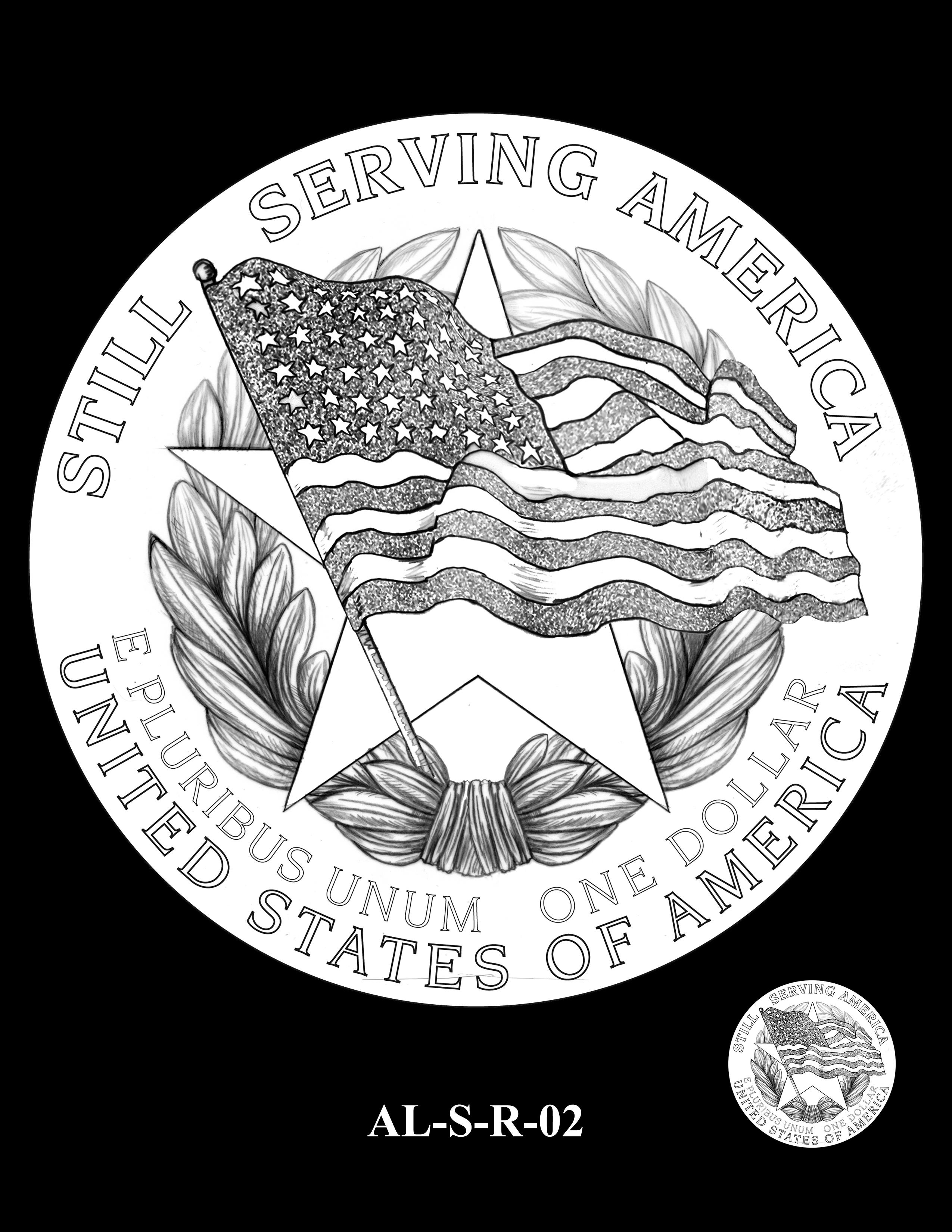 AL-S-R-02 -- 2019 American Legion 100th Anniversary Commemorative Coin Program - Silver Reverse