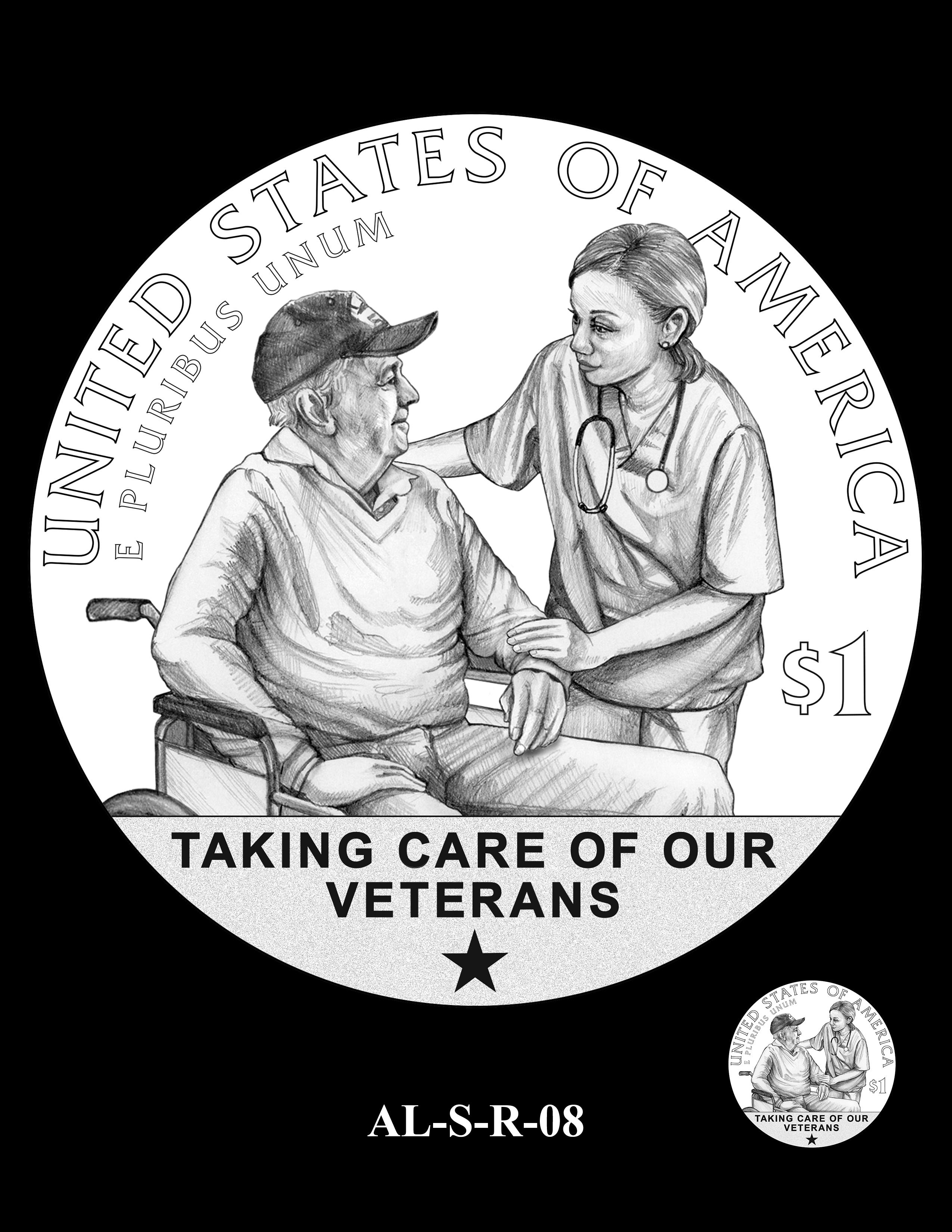 AL-S-R-08 -- 2019 American Legion 100th Anniversary Commemorative Coin Program - Silver Reverse