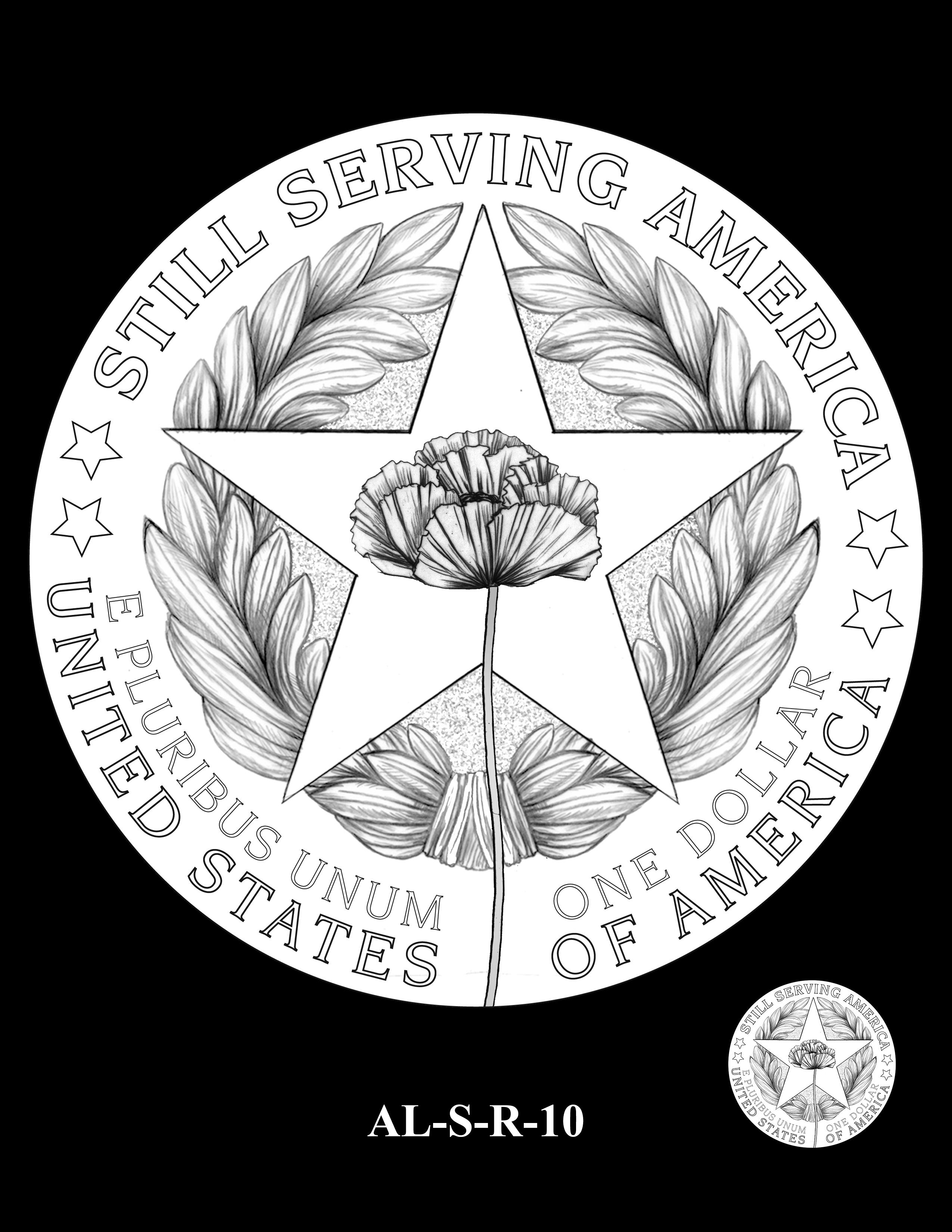 AL-S-R-10 -- 2019 American Legion 100th Anniversary Commemorative Coin Program - Silver Reverse