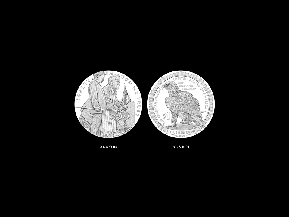 AL-Silver Pair 02 -- 2019 American Legion 100th Anniversary Commemorative Coin Program - Silver Pairings