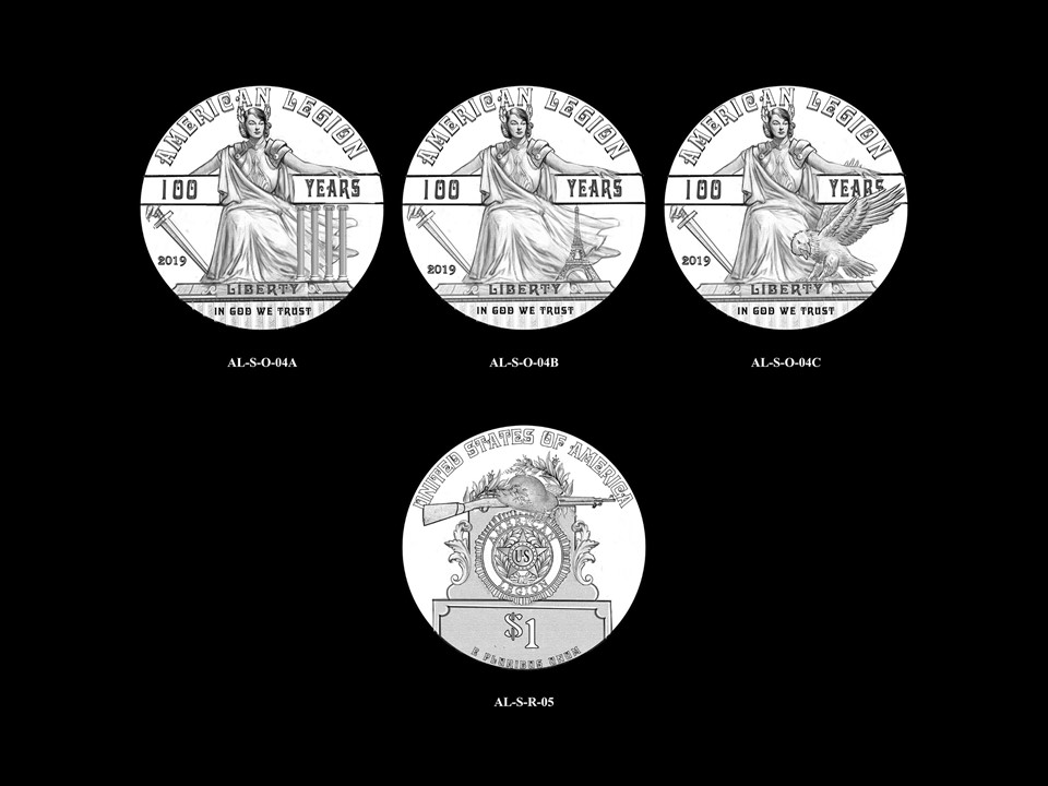 AL-Silver Pair 03 -- 2019 American Legion 100th Anniversary Commemorative Coin Program - Silver Pairings