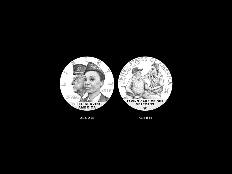 AL-Silver Pair 06 -- 2019 American Legion 100th Anniversary Commemorative Coin Program - Silver Pairings